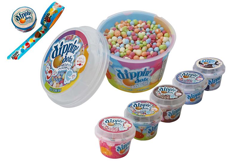 ディッピンドッツアイスクリーム(プリカップ)6個セット+ディッピンドッツ卓上カレンダー(非売品)